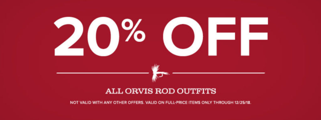 20% OFF Orvis Rod Outfit Banner
