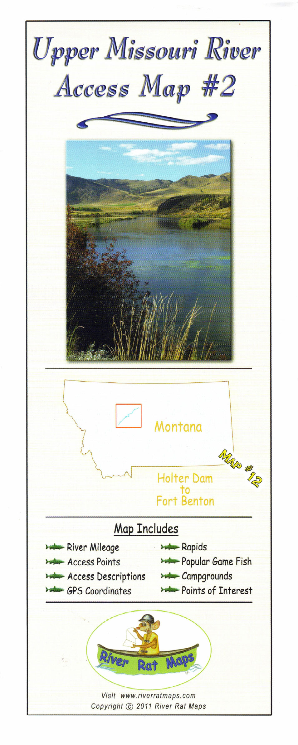 Missouri River Map (Holter Dam to Ft Benton)