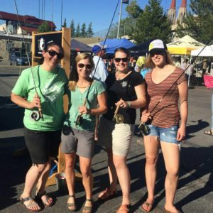 ladies with fly rods