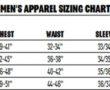 Redington Men's Apparel Sizing Chart