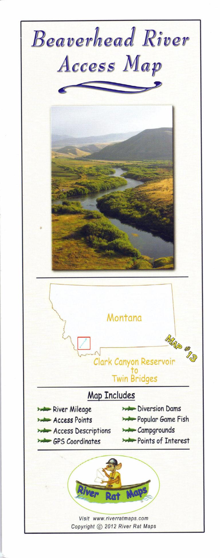 Beaverhead River Map by River Rat Maps