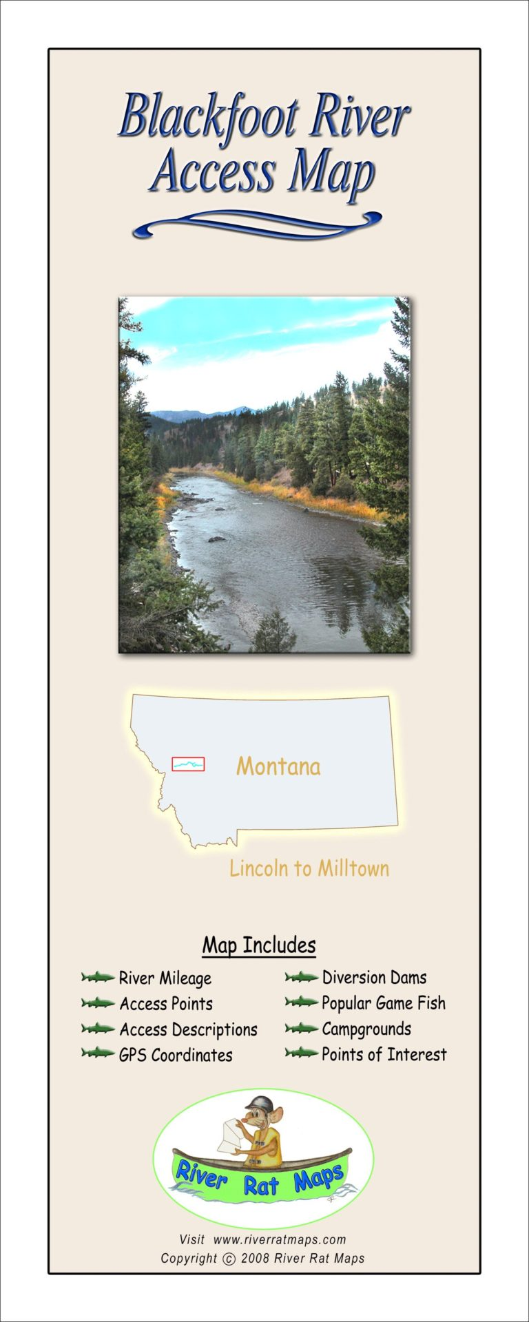 Blackfoot River Map by River Rat Maps