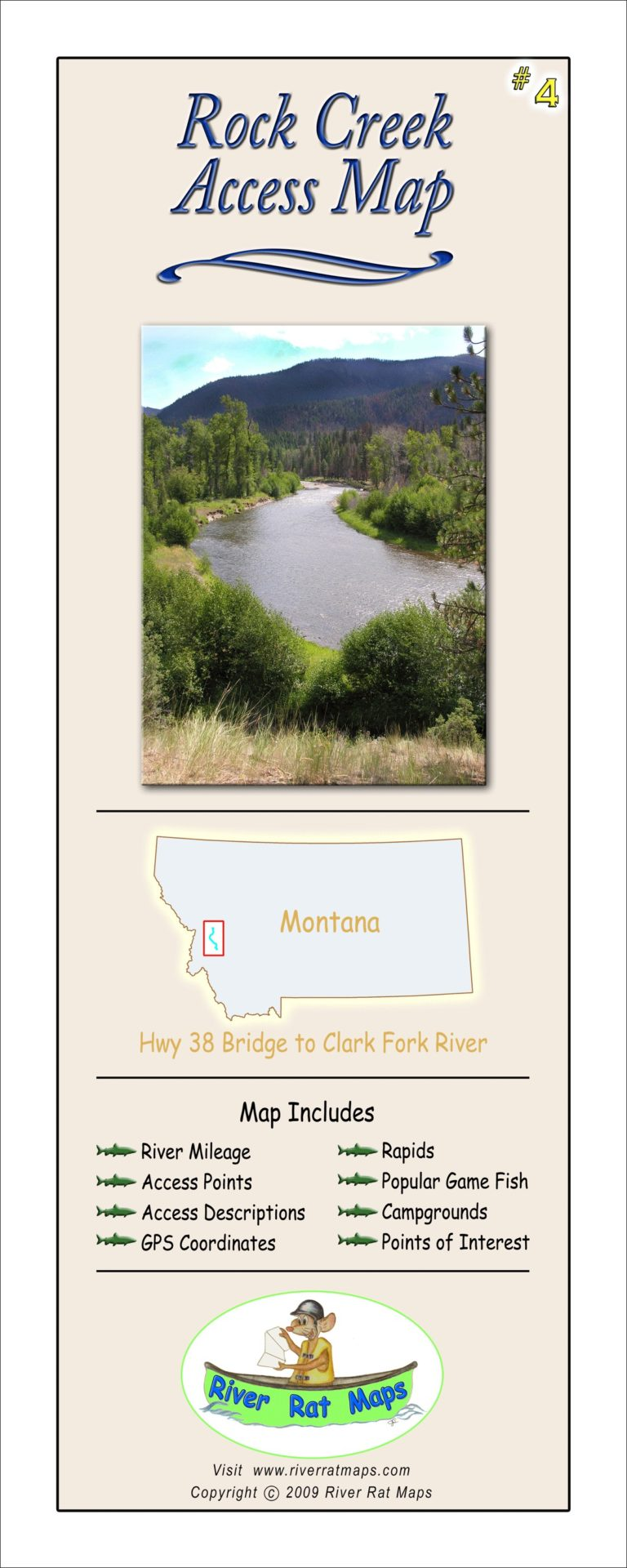 Rock Creek Map by River Rat Maps