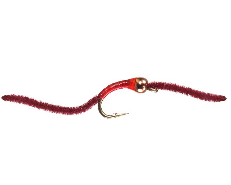 Bead head tan san juan worm set of 12