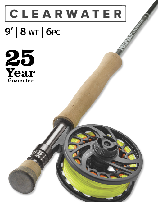 Orvis Clearwater Travel 9' 8-weight 6-piece Fly Rod