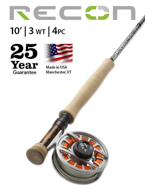 Orvis Recon 10' 3-weight Fly Rod NEW