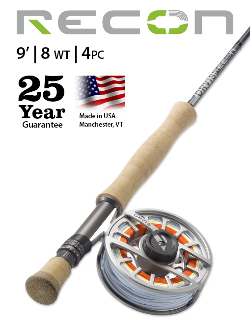 Orvis Recon 9' 8-weight Fly Rod NEW