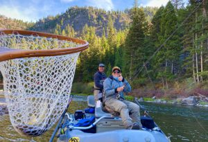 fall fishing on the Blackfoot River