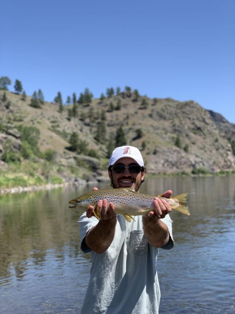Missouri River fly fishing for brown trout